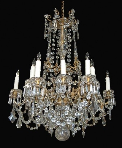 Popular French Antique Chandeliers With Antique Fine French Crystal Chandelier – Latique Antiques (View 8 of 10)