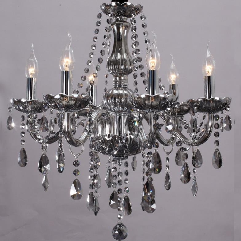 Popular Grey Chandeliers With Grey Crystal Chandelier Portisheadkitchensco Regarding Stylish (View 8 of 10)