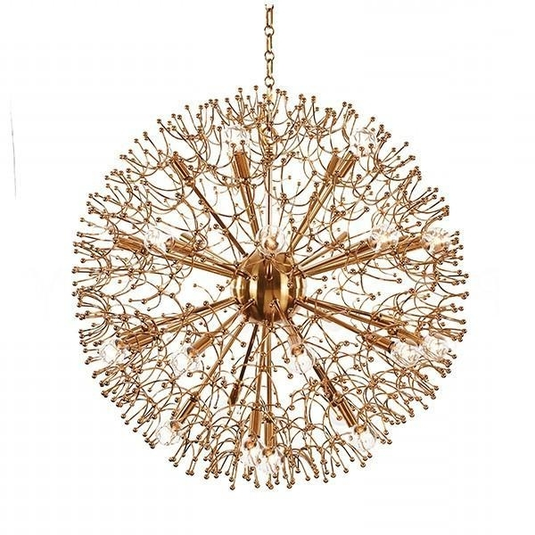 Popular Large Globe Chandelier Pertaining To Large Brass Globe Chandelier (View 8 of 10)
