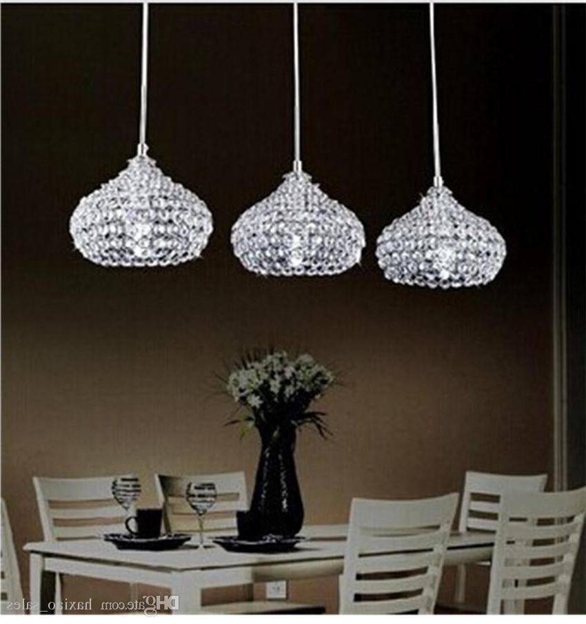 Popular Modern Chandeliers Inside Modern Chandeliers Led Crystal Ball Pendant Lamp K9 Crystal Ceiling (View 9 of 10)