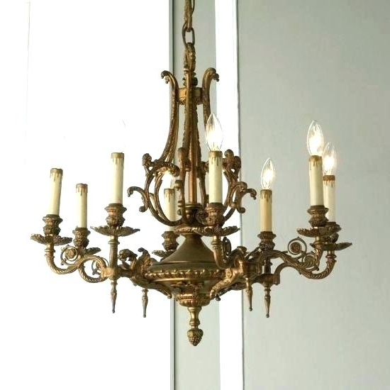 Popular Old Brass Chandelier Together With 1 Vintage Brass Chandelier Canopy For Vintage Brass Chandeliers (View 5 of 10)