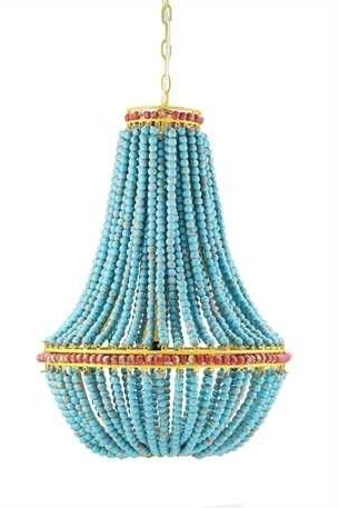 Popular Turquoise Blue Beaded Chandeliers Intended For  (View 6 of 10)