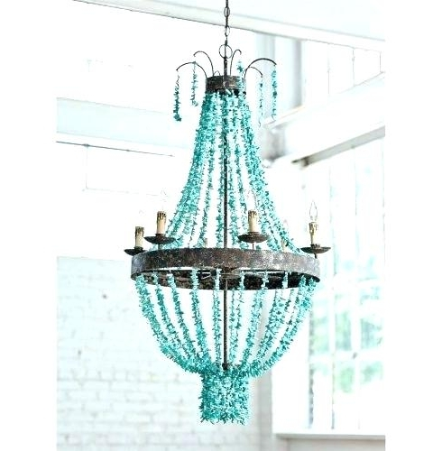Popular Turquoise Chandelier Light Turquoise Stone Chandelier Lighting Regarding Turquoise Stone Chandelier Lighting (View 5 of 10)