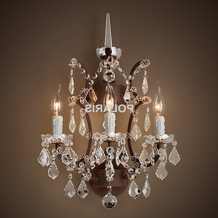 Popular Wall Mounted Chandeliers In Wall Mounted Chandelier (23) (View 6 of 10)