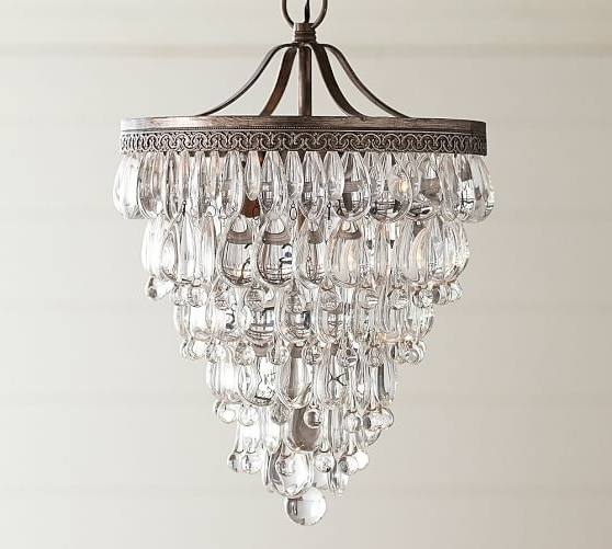 Pottery Barn In Glass Droplet Chandelier (View 8 of 10)