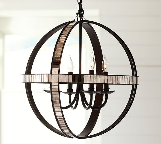 Pottery Barn Pertaining To Mirrored Chandelier (View 8 of 10)