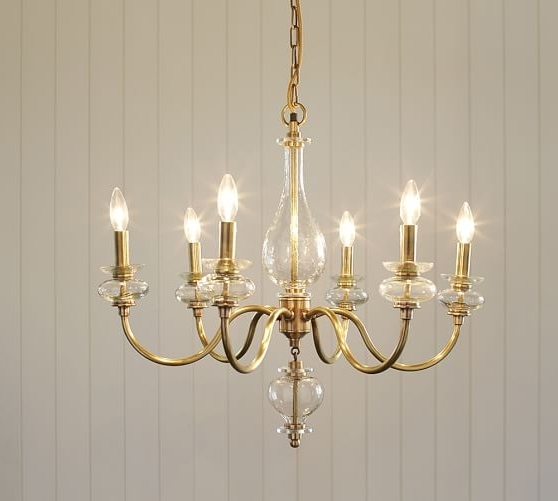 Pottery Barn Pertaining To Preferred Glass Chandelier (View 4 of 10)
