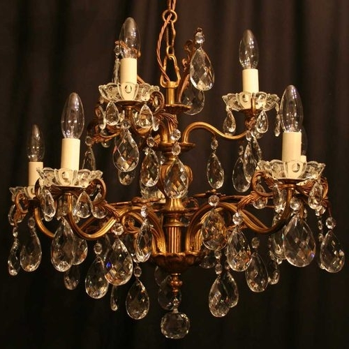 Preferred Antique Chandeliers For Antiques Atlas – Italian Gilded 8 Light Antique Chandelier (View 4 of 10)