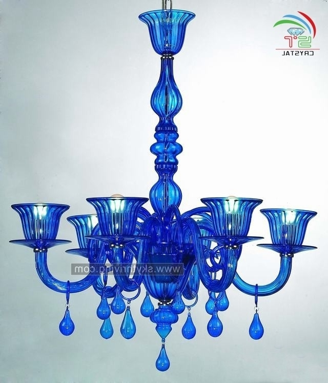 Preferred Blue Murano Glass Chandeliers Blue Murano Glass Chandeliers With Throughout Turquoise Blue Glass Chandeliers (View 4 of 10)