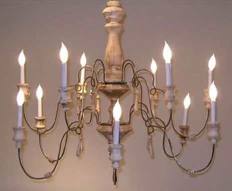Preferred Country French Lilu Interiors Wooden Chandelier Wood Wrought Iron For French Wooden Chandelier (View 8 of 10)