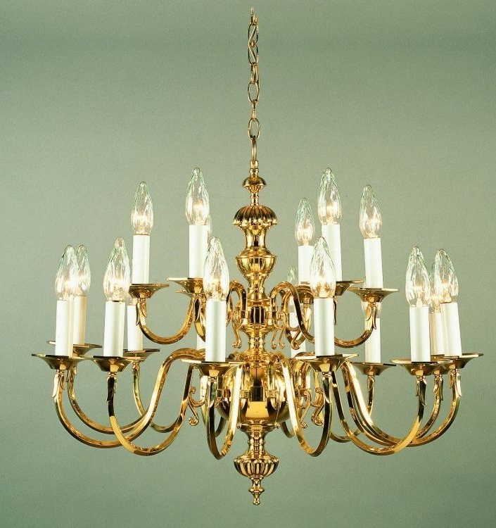 Preferred Georgian Chandelier Pertaining To Georgian Cast Brass Chandelier – 18 Light (View 8 of 10)