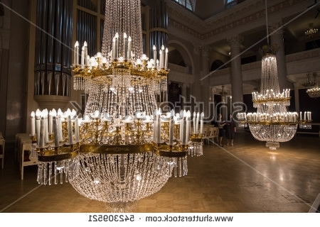 Preferred Saintpetersburg Russia September 6 2016 Huge Stock Photo 542309521 For Huge Crystal Chandelier (View 10 of 10)