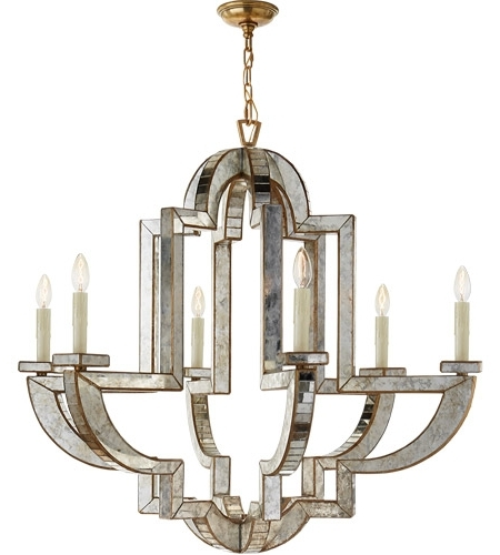 Preferred Visual Comfort Nw5041Am/hab Niermann Weeks Lido 6 Light 38 Inch With Mirror Chandelier (View 10 of 10)