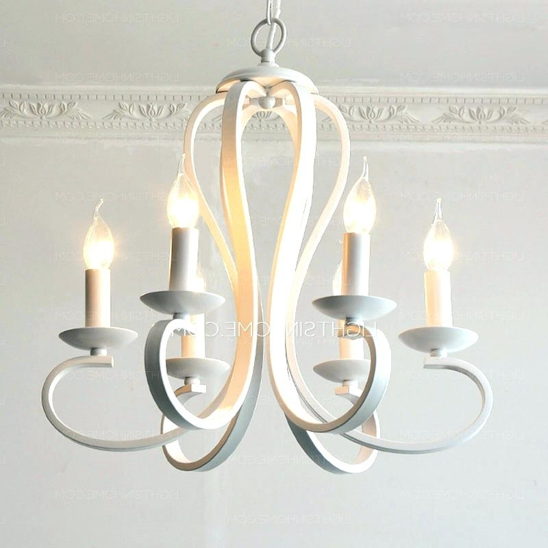 Preferred White Drum Chandelier – Ipbworks Throughout White Contemporary Chandelier (View 7 of 10)