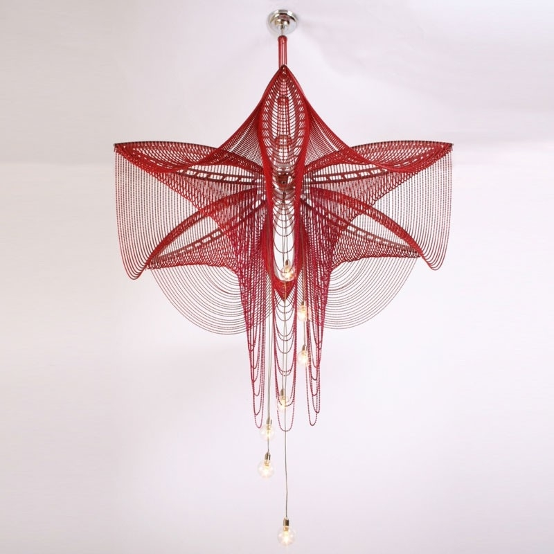 Preferred Willowlamp – Chandelier Fuschia 1000 (Red) – Luxury Lighting On Throughout Fuschia Chandelier (View 8 of 10)