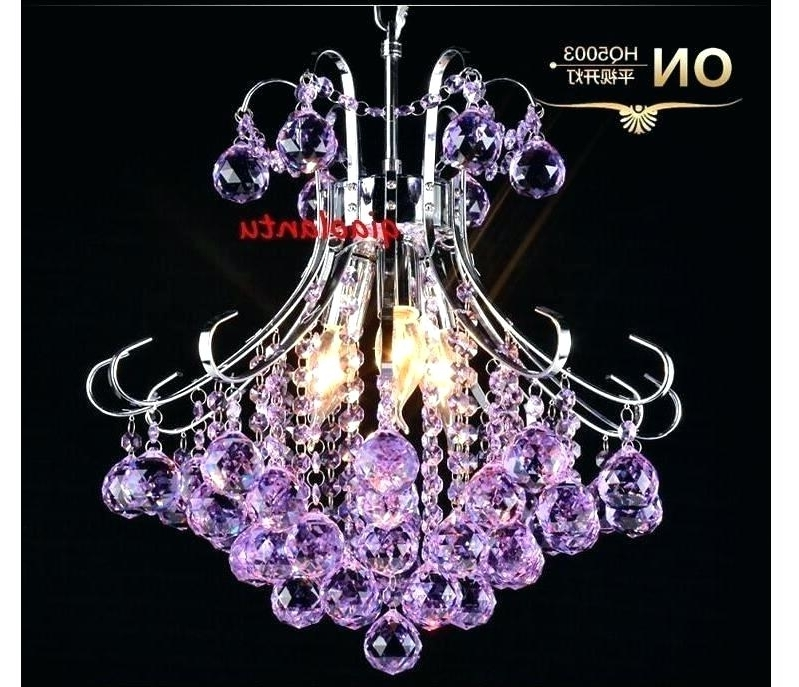 Purple Crystal Chandelier Lights For Most Current Purple Crystal Chandelier Lighting Purple Crystal Chandelier (View 3 of 10)