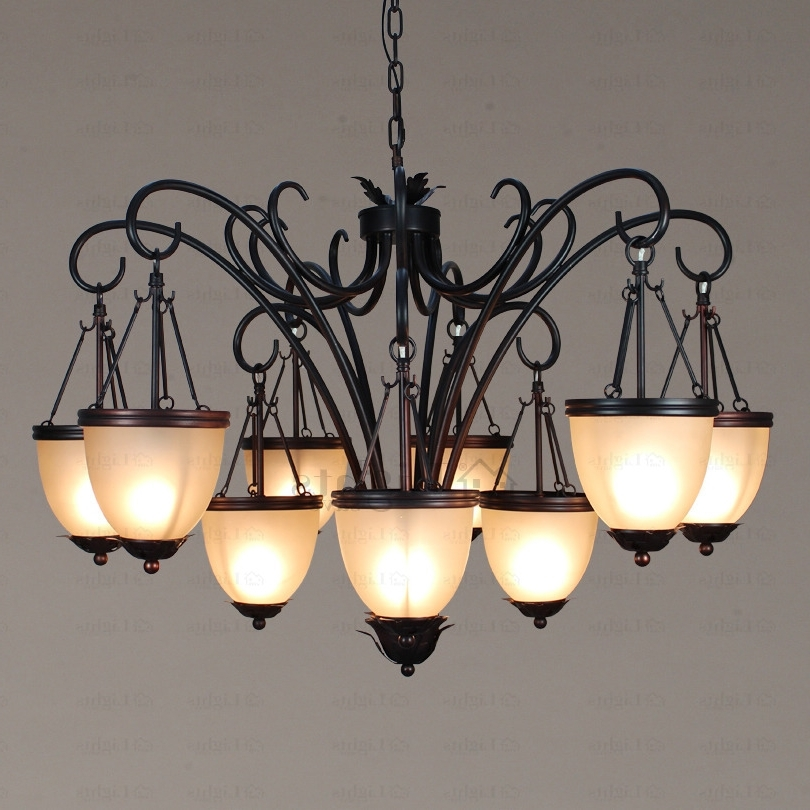 Recent Black Iron Chandeliers Throughout Rustic Black Wrought Iron Chandelier – Chandelier Designs (View 9 of 10)