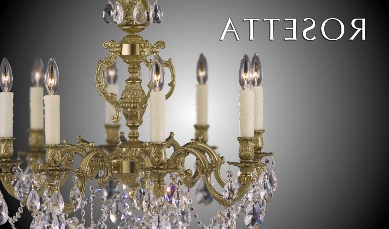Recent Brass And Crystal Chandelier Pertaining To Brass & Crystal Chandelier (View 5 of 10)