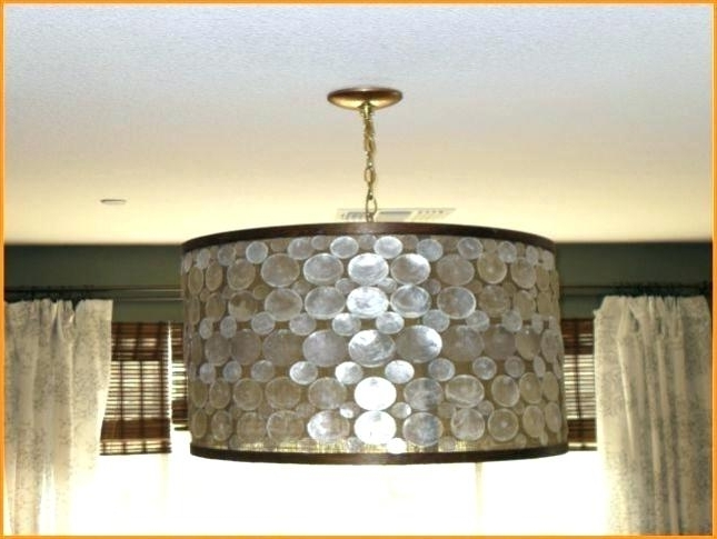 Recent Burlap Drum Shade Chandelier Burlap Drum Shade Chandelier Lamp With Regard To Drum Lamp Shades For Chandeliers (View 10 of 10)