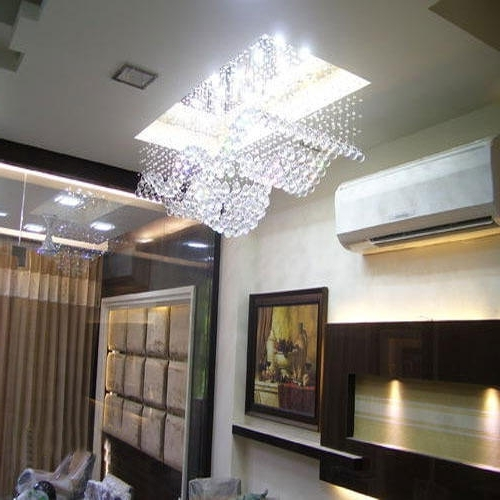 Recent Chandelier Lights For Living Room Regarding Living Room Ceiling Crystal Chandeliers, Jhumar, Chandelier Lighting (View 4 of 10)