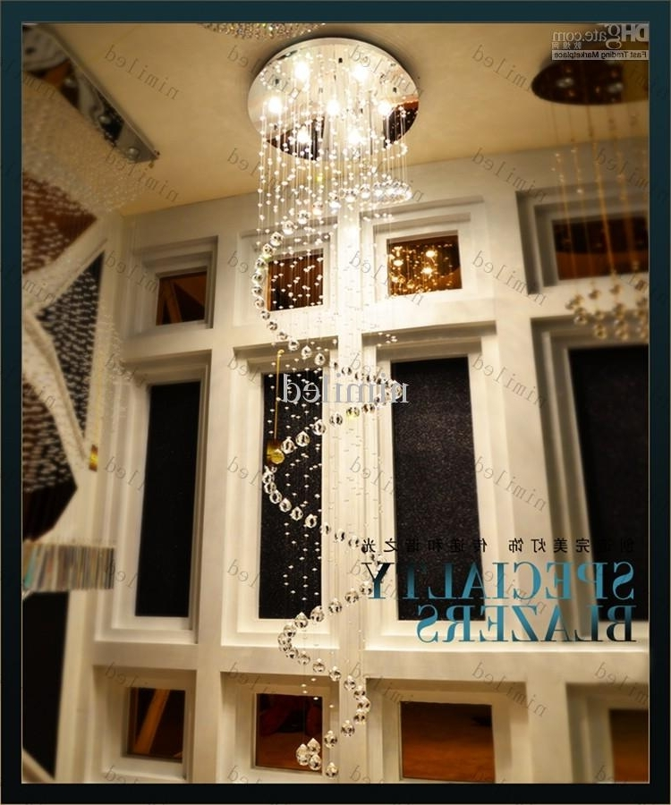 Recent Hallway Chandeliers In Nimi106 D22/d35/d55/d65/d80 K9 Crystal Chandelier Pendant Droplight (View 3 of 10)