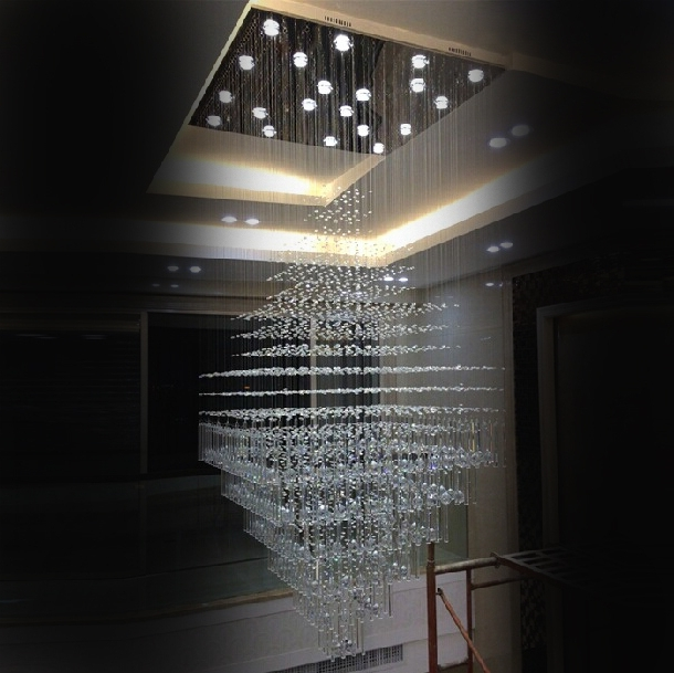 Recent Large Modern Chandeliers Intended For 2017 New Luxury Crystal Chandelier Led Living Room Lamp Chandelier (View 9 of 10)