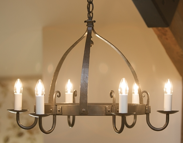Recent Mitre 6 Light Wrought Iron Chandelier (View 6 of 10)