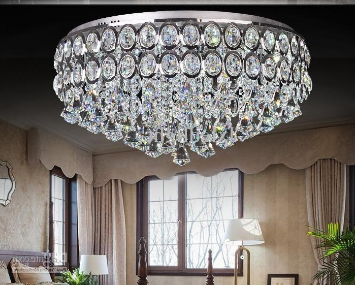 Recent Modern Crystal Chandelier Led Ceiling Light Pendant Lamp Fixture Pertaining To Short Chandeliers (View 8 of 10)