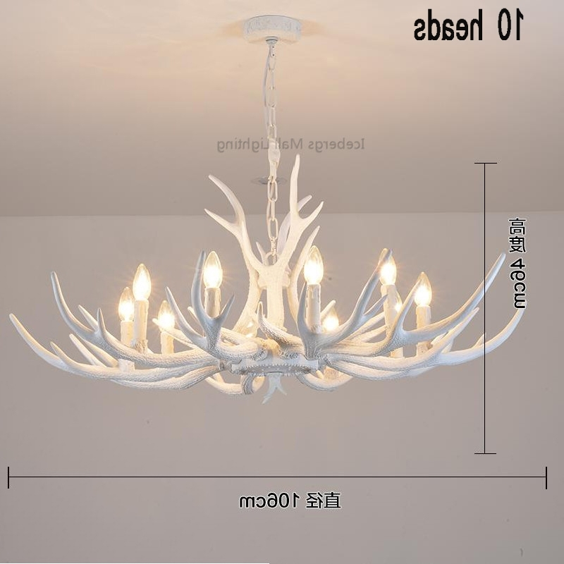 Recent Modern White Antler Chandelier Novelty Lustre Light For Dining Room Throughout White Antler Chandelier (View 6 of 10)