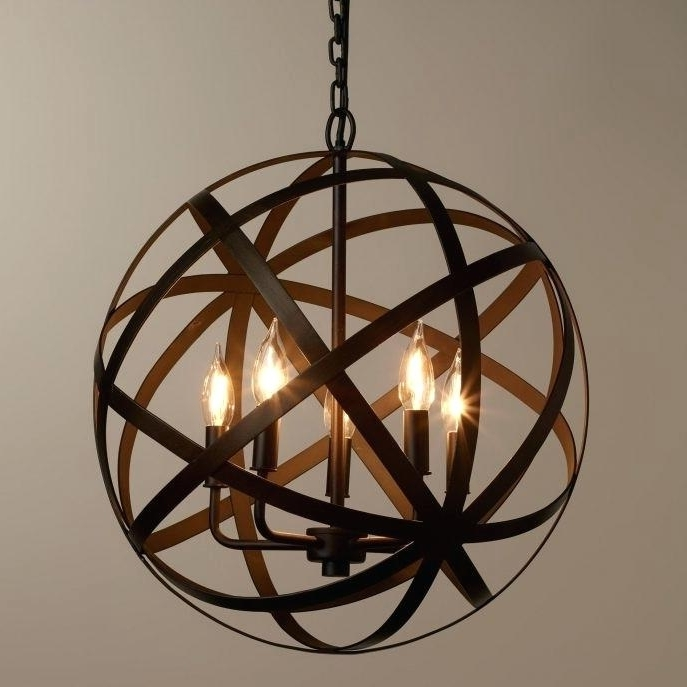 Recent Orb Chandeliers Inside Bronze Orb Chandelier – Forrestgump (View 9 of 10)