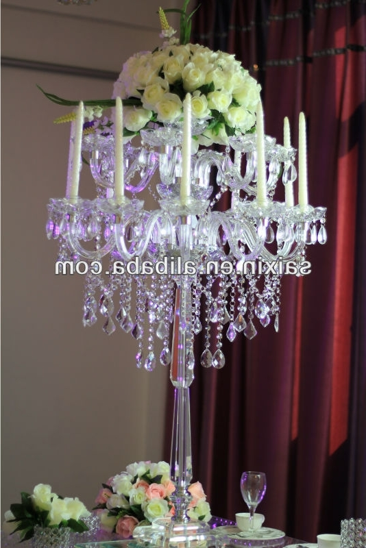 Recent Table Chandeliers With Gorgeous Table Top Chandelier Centerpieces For Weddings – Buy (View 9 of 10)