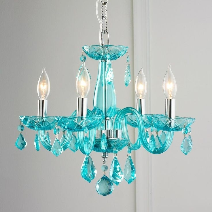 Recent Turquoise Mini Chandeliers Pertaining To Home Design : Exquisite Colored Crystal Chandeliers Multi Mini (View 6 of 10)