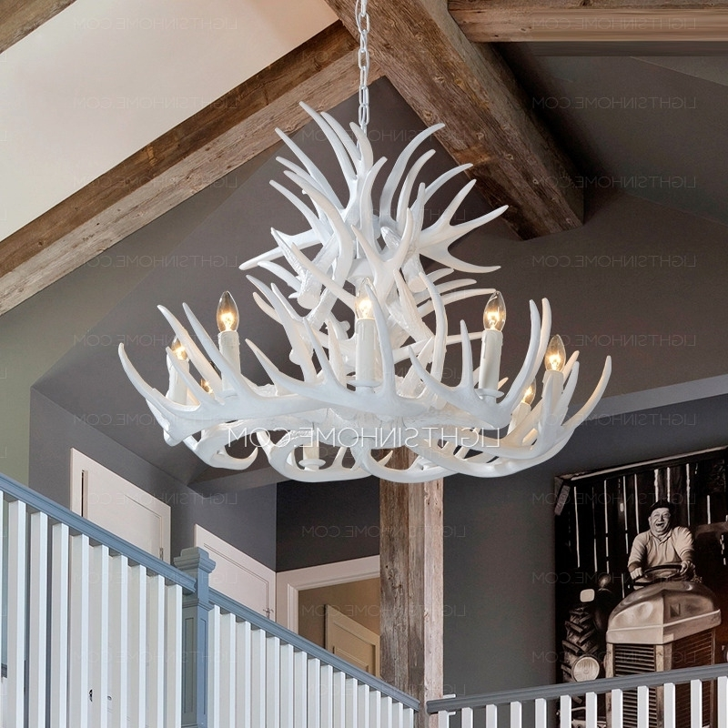 Recent White Antler Chandelier Best Of 9 Light Modern Antler Chandelier Regarding Modern Antler Chandelier (View 7 of 10)