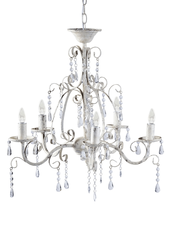 Recent White Chandelier Regarding Florence Chandelier – Antique White (Gallery 3 of 10)