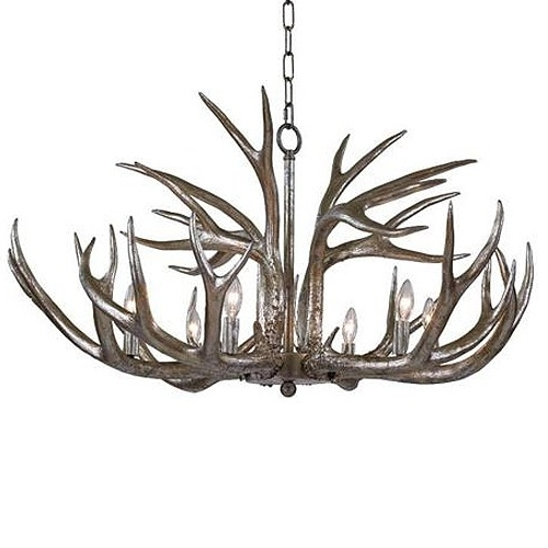 Regina Andrew Design Antler Chandelier – Silver (View 7 of 10)