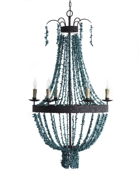 Regina Andrew Design Turquoise Beads 6 Light Chandelier Pertaining To Current Turquoise Beads Six Light Chandeliers (Gallery 5 of 10)