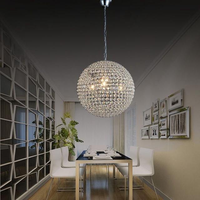 Restaurant Chandeliers Inside Trendy Round Crystal Chandelier Luxury Led Lamp Restaurant Chandelier (View 2 of 10)