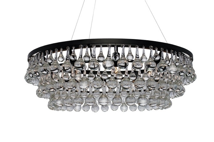 Round Glass Droplet Chandelier – Look 4 Less And Steals And Deals (View 9 of 10)