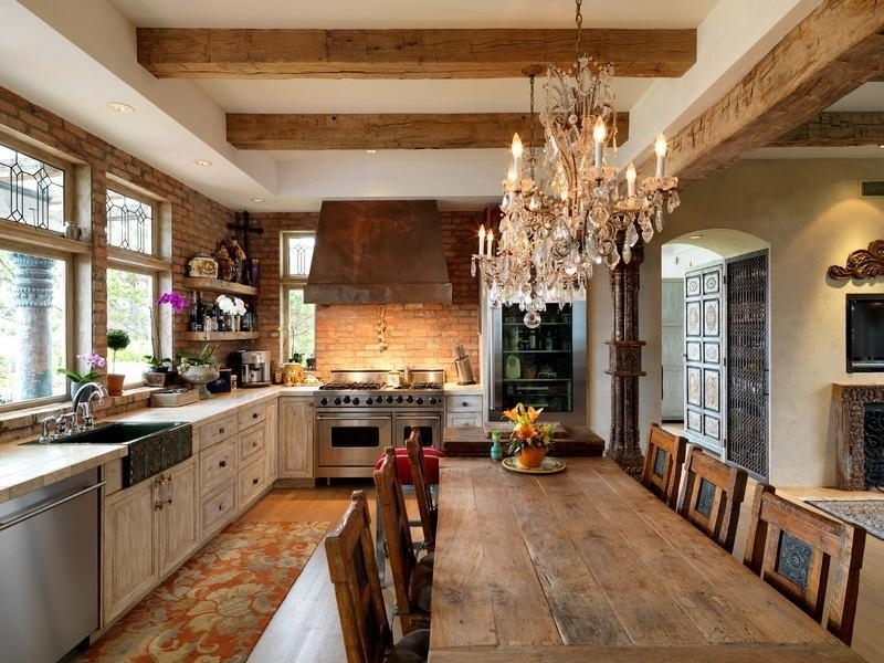 Rustic Kitchen Chandelier Good Furniture Pertaining To Attractive With Favorite Small Rustic Kitchen Chandeliers (View 5 of 10)