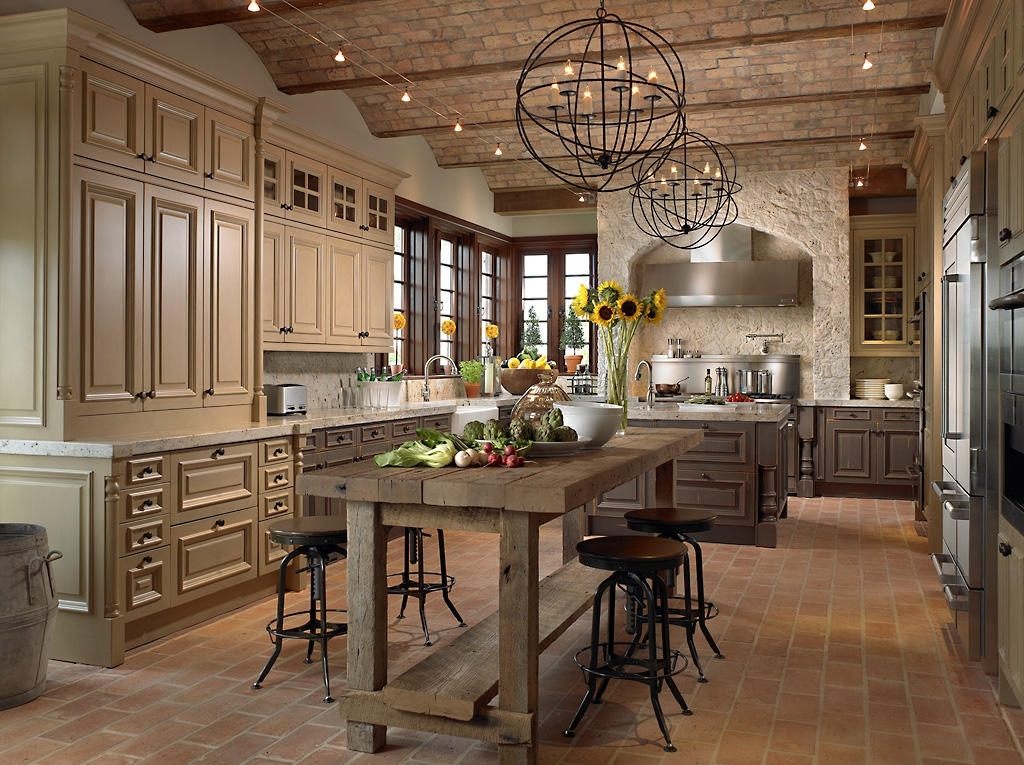 Rustic Kitchen With Stone Tile Showcase Kitchens Zillow Digs Throughout Latest Small Rustic Kitchen Chandeliers (View 9 of 10)