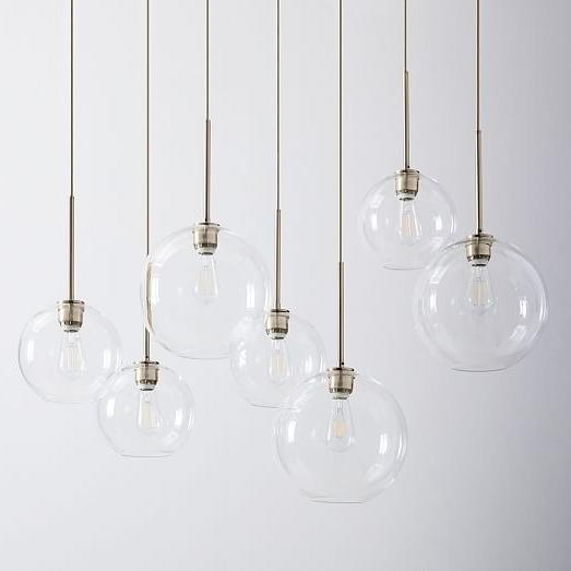 Sculptural Glass Globe 7 Light Chandelier – Mixed (View 5 of 10)