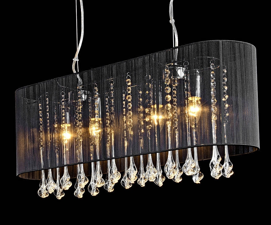 Shaded Long Pendant Chandeliermade With Love Designs Ltd For 2017 Long Chandelier (View 9 of 10)