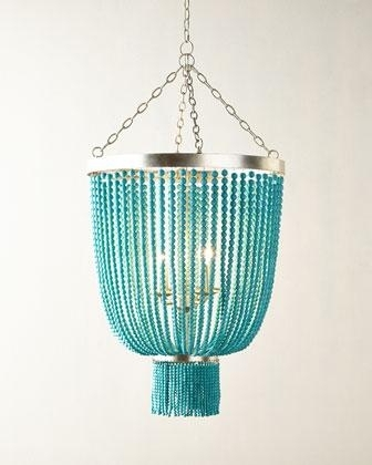 Shades Of Light Beaded Basket Chandelier With Regard To Well Known Turquoise Gem Chandelier Lamps (View 4 of 10)