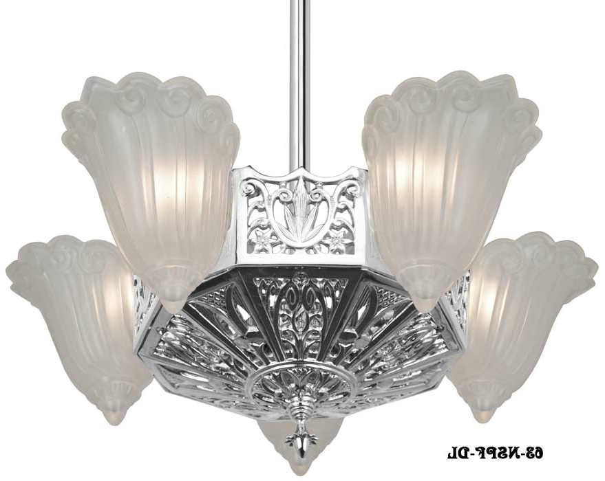 Short Chandelier With Fashionable Vintage Hardware & Lighting – (View 9 of 10)