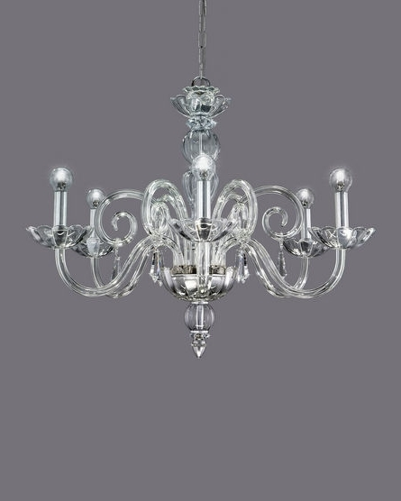 Silver Chandeliers With Regard To Most Recently Released 122/ch 6 Silver Leaf Crystal Chandelier With Swarovski Spectra (View 9 of 10)