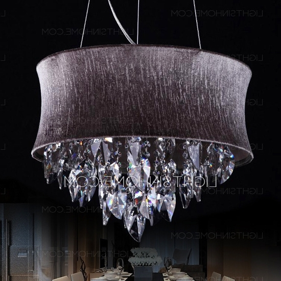 Simple 5 Light Hardware Drum Shaped Purple Crystal Chandelier With Regard To Latest Purple Crystal Chandelier Lights (View 8 of 10)