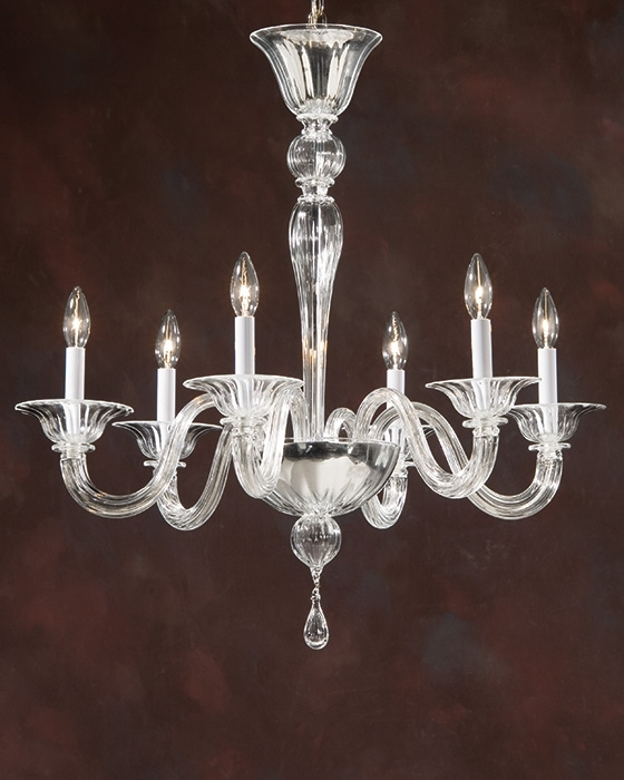 Simple Glass Chandelier Regarding Preferred Home Design : Elegant Italian Glass Chandeliers Chandelier Ideas (View 8 of 10)