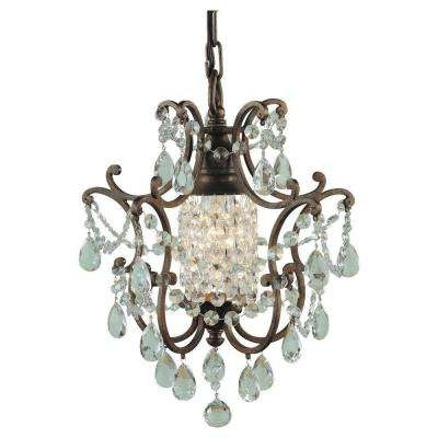 Small Bronze Chandelier Regarding Favorite Mini – Bronze – Chandeliers – Lighting – The Home Depot (View 8 of 10)