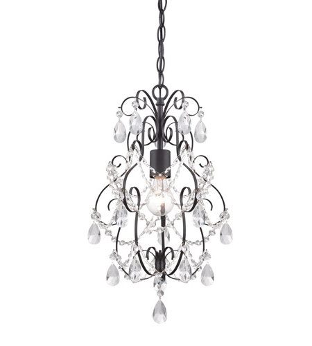 Small Bronze Chandelier Throughout Best And Newest Designers Fountain 6204 Orb Flora 1 Light 14 Inch Oil Rubbed Bronze (Gallery 6 of 10)