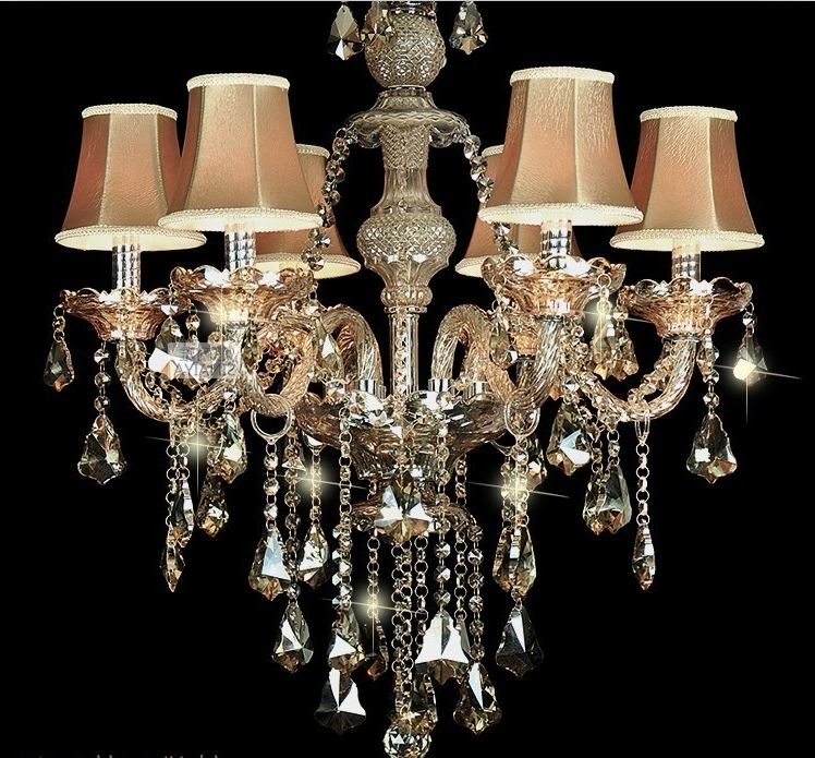 Small Chandelier Lamp Shades Regarding Fashionable Captivating Lamp Shades For Chandeliers With A Crystal Ball And A (View 9 of 10)